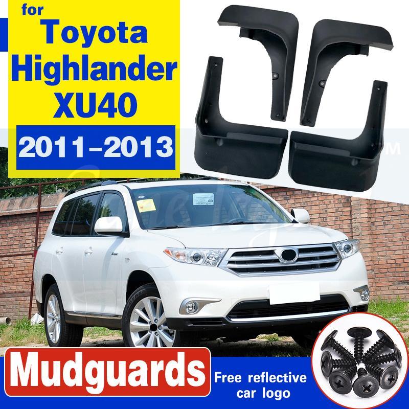 Auto-Schmutzfänger Schmutzfänger Schmutzfänger Spritzschutz Fender Zubehör für Toyota Highlander XU40 2011 2012 2013