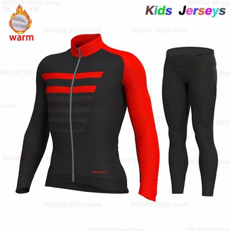 2020 2020 bambini in bicicletta Jersey Set VELLO TERMICO I bambini vestiti di riciclaggio della bici della bicicletta dei vestiti dei ragazzi Ropa Ciclismo 4kck #