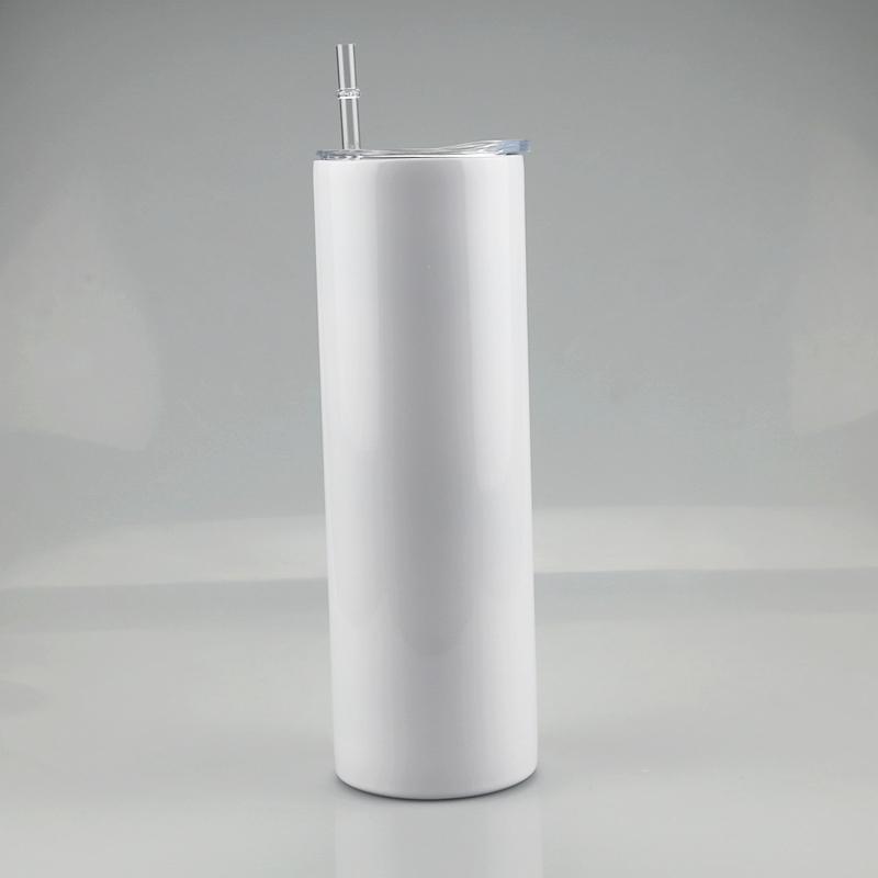 20oz Sublimación Cosa recta Doble Pared Vacuum Copa recta Transferencia de calor Transferencia de calor Aislado Acero inoxidable Botella de bebida A07