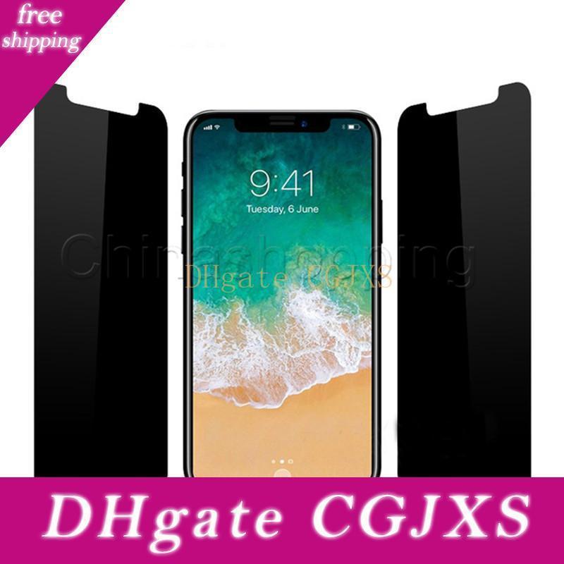 Écran de confidentialité en verre trempé anti -Spy Film de protection pour iPhone 11 Pro Max X Xr X Max 8 7 6 6s Plus 5 Avec Retail Package