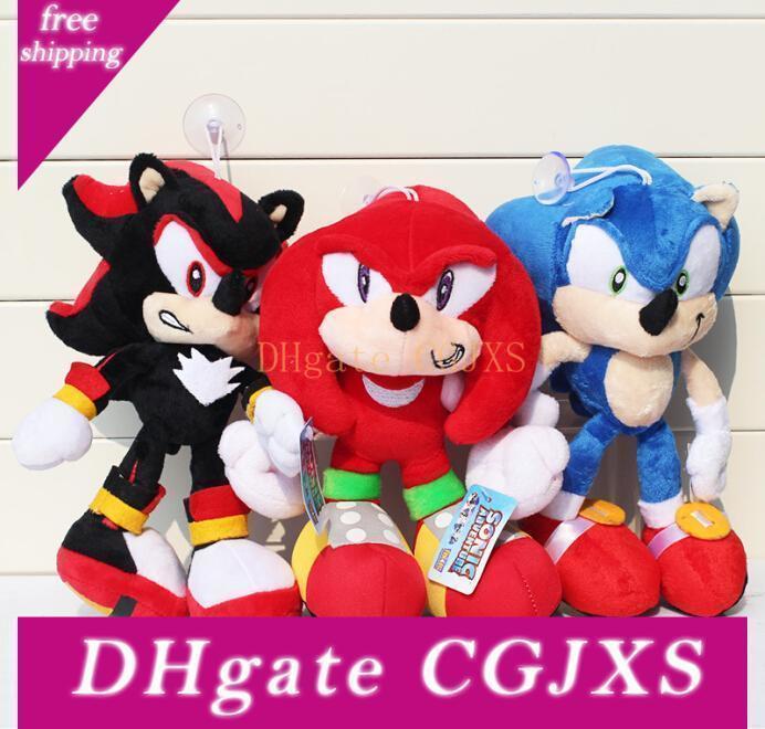 30cm Sonic Plush Toys The Hedgehog Plush Toy Dolls Red Black Blue Animals Stuffed Toys Free Shipping