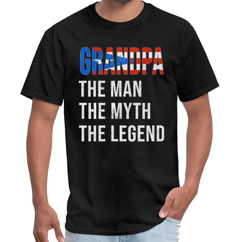 Designer Padres Puerto Rico vovô Legend Dia unisex camiseta ropa tshirt das mulheres mais tamanhos S-5XL naturais