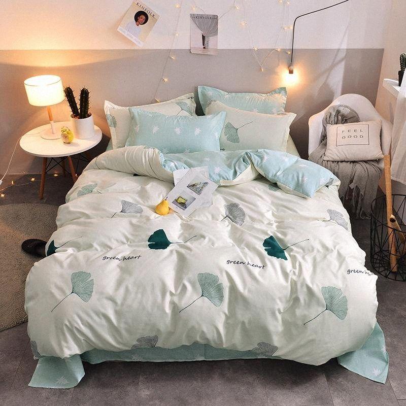Designerbett Decken stellt 4pcs Print Cotton Reactive Wedding Bettwäsche Set King Size Bettbezüge Tröster Bettwäsche-Sets A9nd #