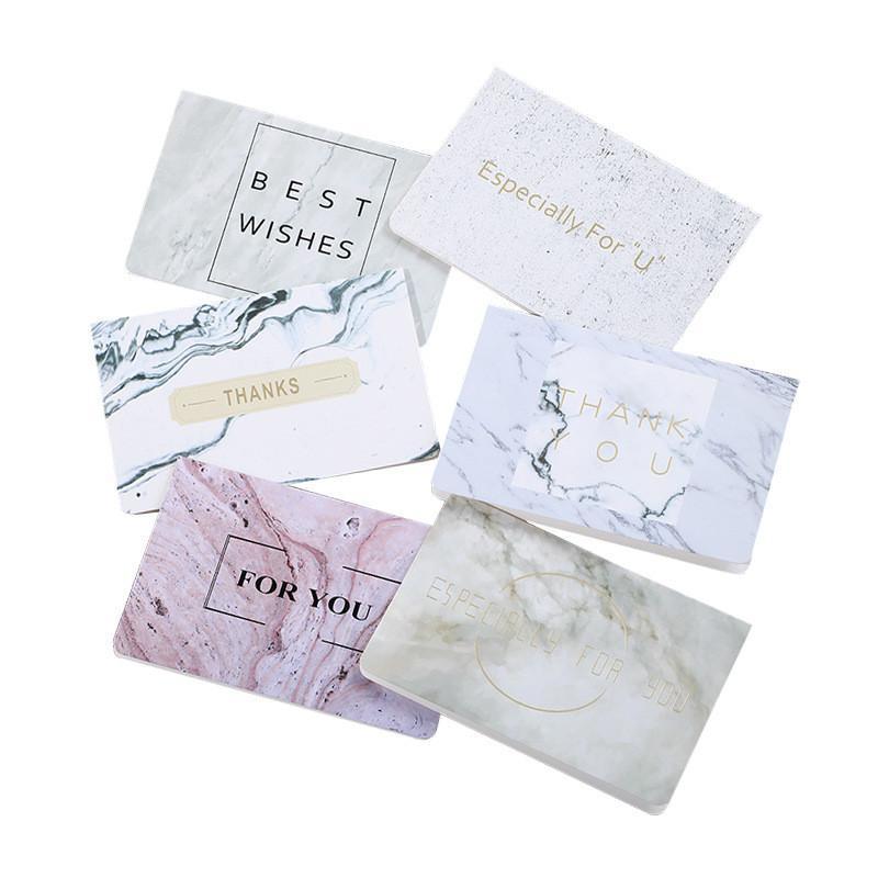 Tarjeta de felicitación de mármol Para especiales que mejor deseo que broncea la invitación de la tarjeta de felicitación de boda Gracias cumpleaños Tarjeta de papel DHF1226