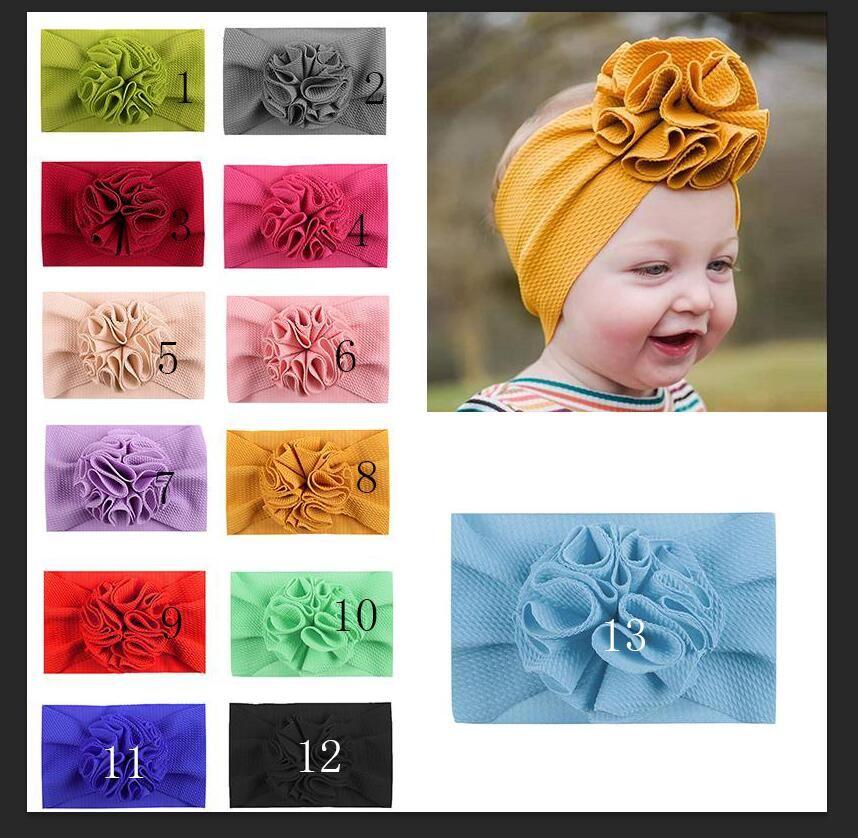 Maize Flower kids headband Fit All Baby flower Girls Headband Headwrap Kids Bow for Hair Wide Head Turban Infant Newborn Headbands