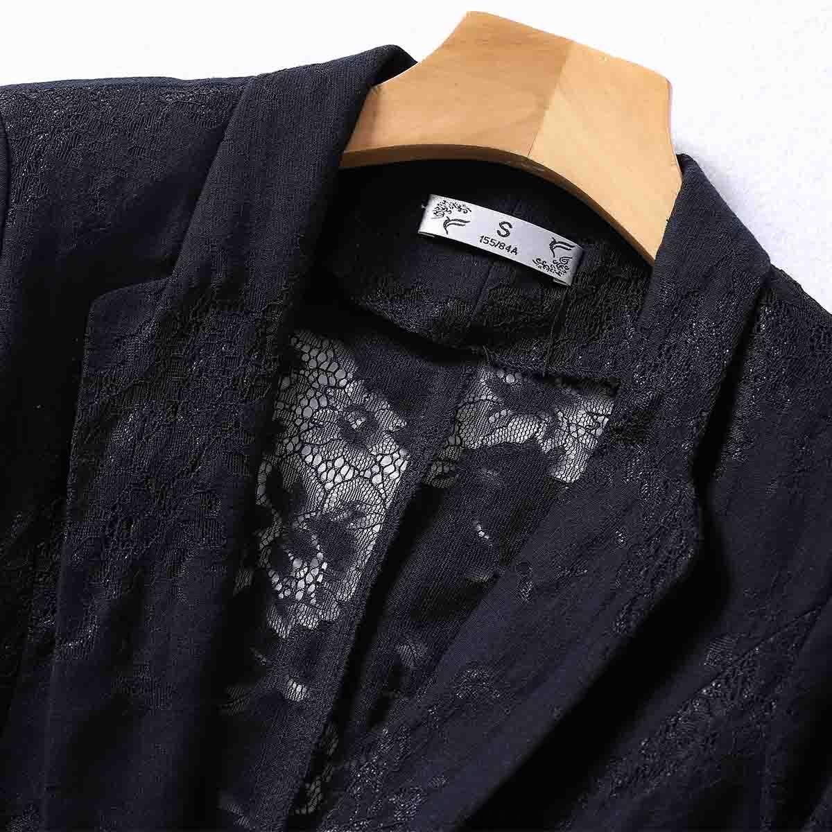manchon moyen crochet petit ressort femmes costume et l'été creux à newCoat faux poche coton veste femmes occasionnels