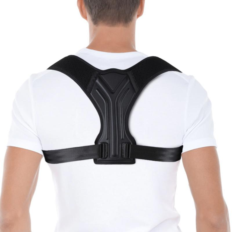 Adjustable Posture Correction Belt Breathable Upper Back Brace With Shoulder Pads Spine Waist Straps Pain Relief