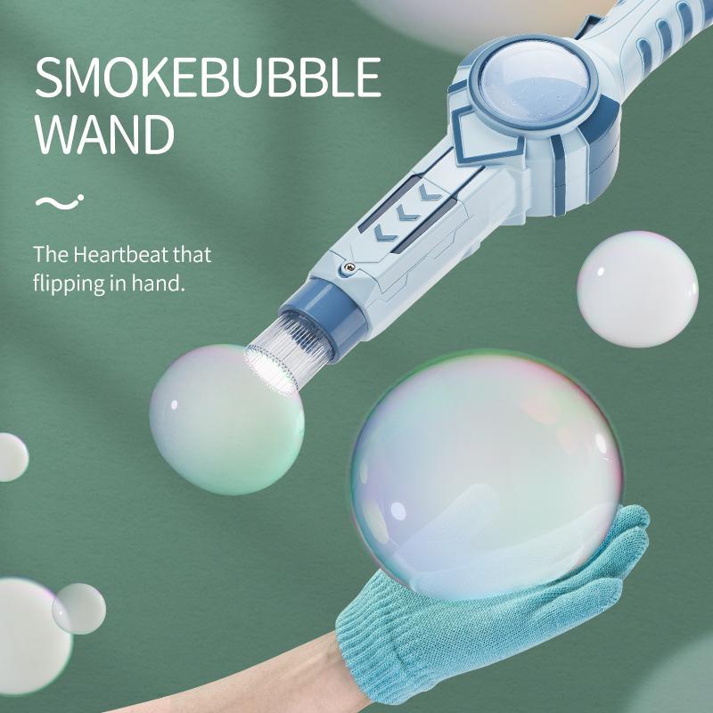 Máquina de burbujas de burbujas de juguete de novedad Máquina de burbujas de humo Juguetes para niños Electric Soap Bubble Machine Regalo para niños