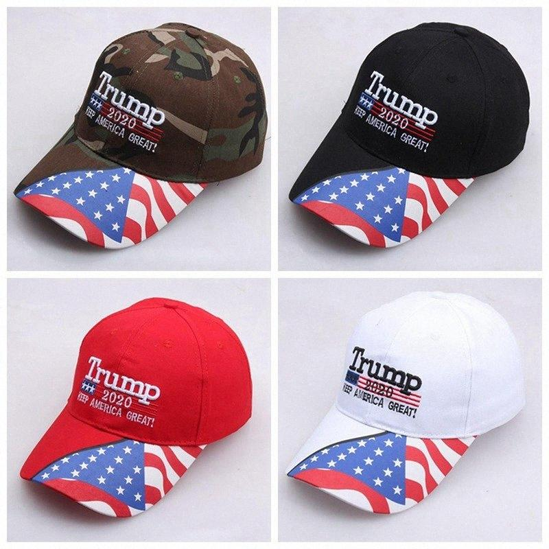 4 Arten Donald Trump Baseball-Mütze Star USA Flagge Camouflage Cap 2020 Keep America Großer Hut Adjustable-Hüte IIA262 qAiY #