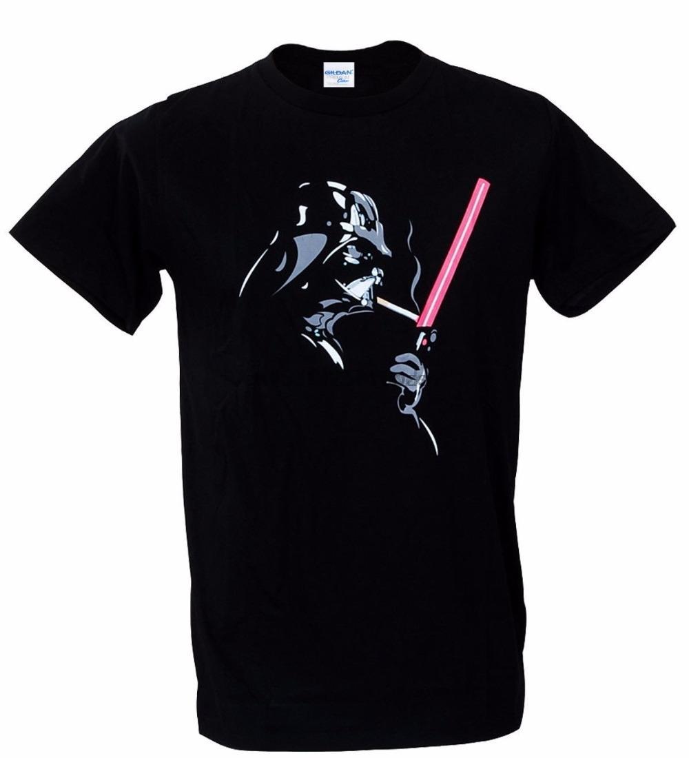 Novos 2020 Moda camiseta Homens Sólidos Banksy cor fria Darth Vader fumaça de charuto Indie Camiseta Crie sua própria camisa