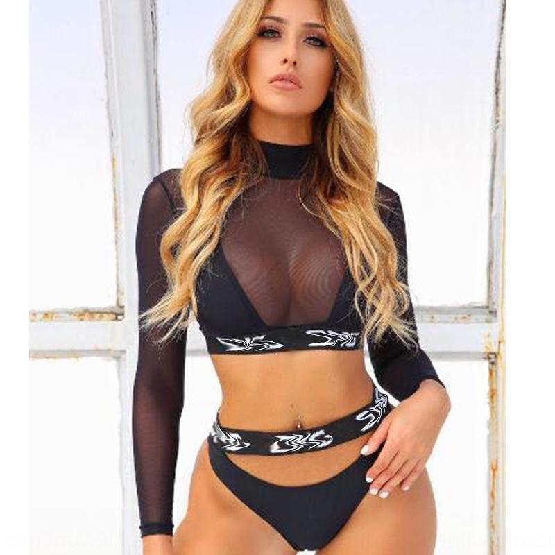 2019 Новый бикини сексуального трехсекционного бикини купальник плотной моды купальник раскол TNFGU женщин