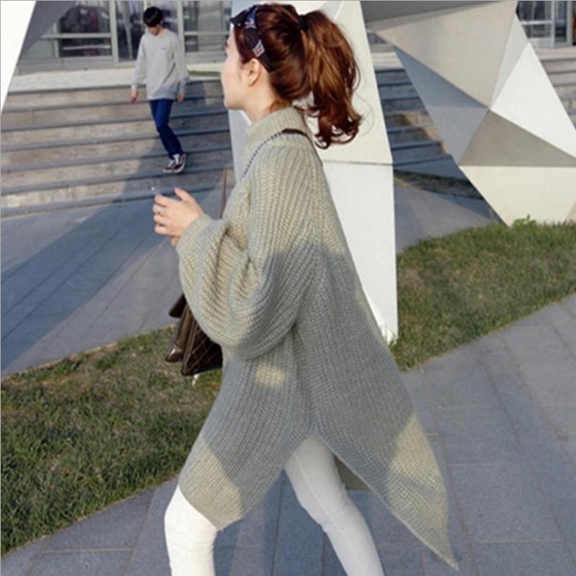 LltBc estilo 2020 e inverno Pullover vestido de comprimento médio outono coreano pulôver das mulheres preguiçoso camisola solta New camisola vestido de manga longa