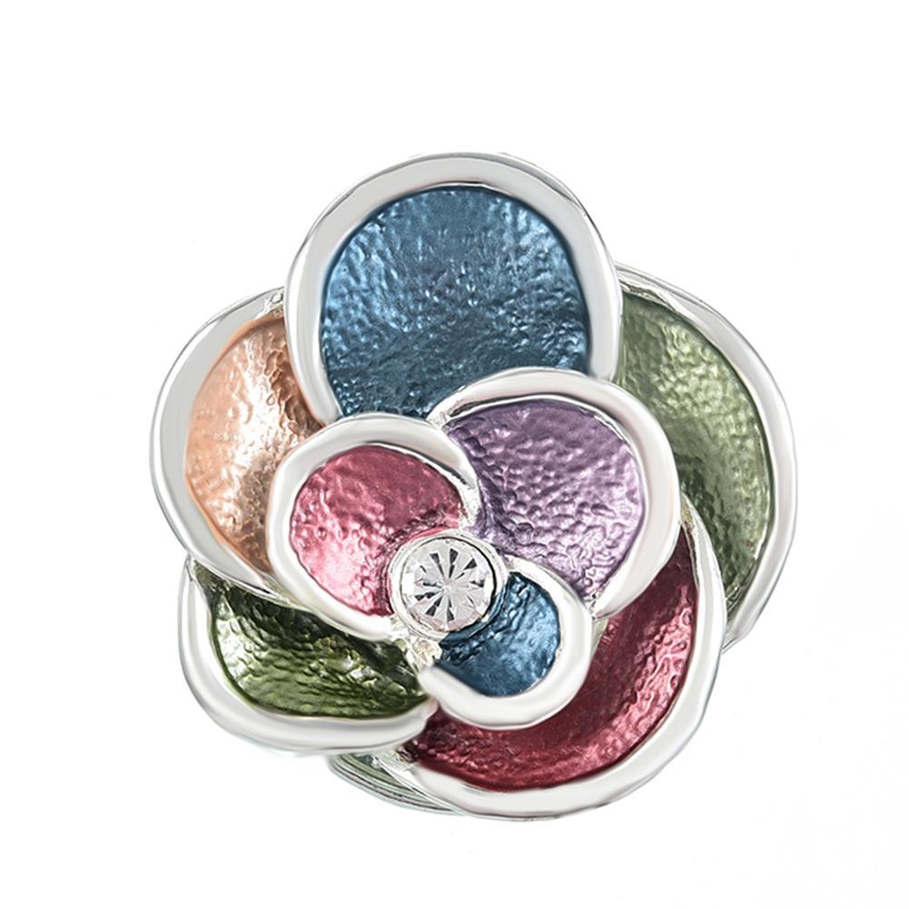 Broche de botão magnético azuis emblemas broches para as mulheres e os pinos do vintage do ouro casamento liga broche de flor de pinos para artesanato