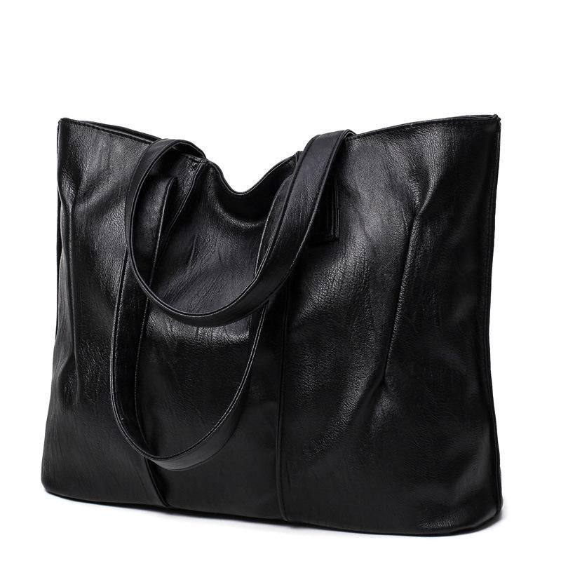سعة كبيرة حقيبة يد جلد محفظة المرأة الكتف حقيبة crossbody شعبية بسيطة الإناث اليومية حقيبة المرأة التسوق حقيبة يد wjjdz