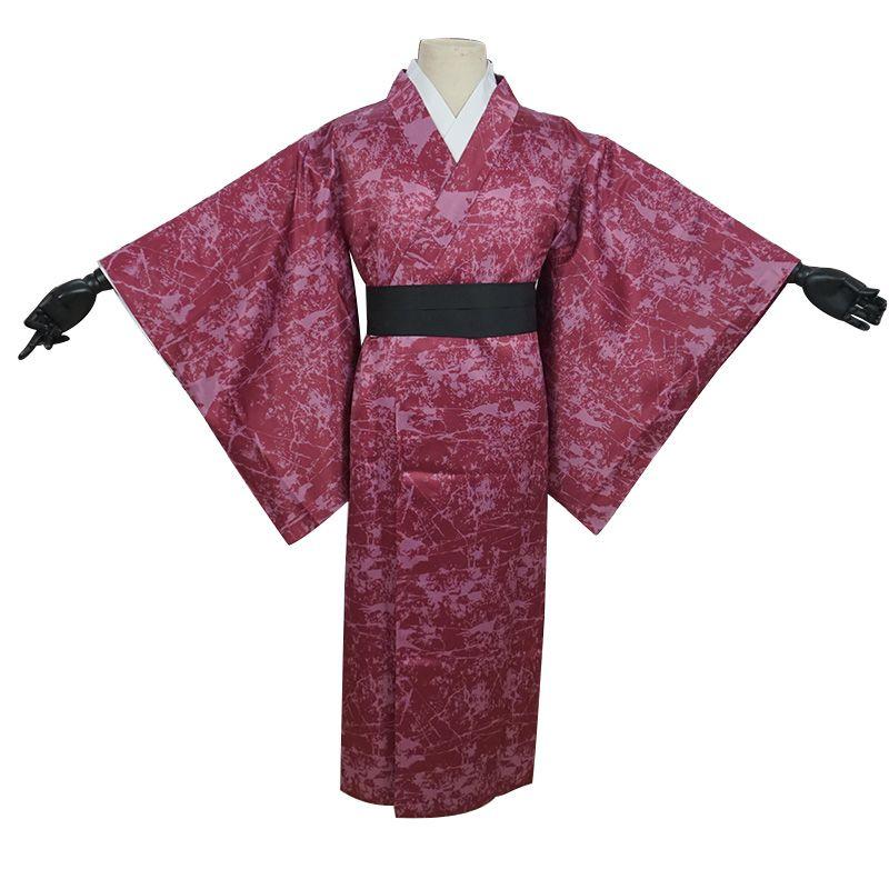Demon Slayer: Kimetsu No Yaiba Uzui Tengen kimono de Halloween cosplay
