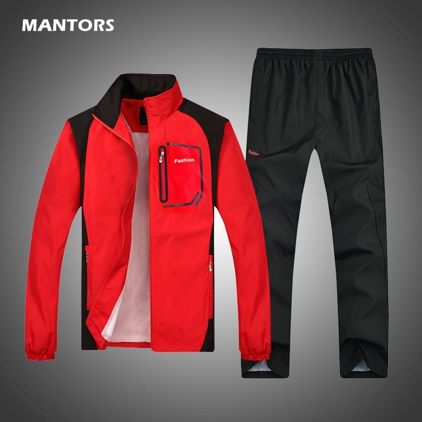 Hommes Costume 2020 Automne Pantalon + Casual Hiver Trasuit Men Set Two Pieces Man entraînement Joggers Costume Trasuits manches longues