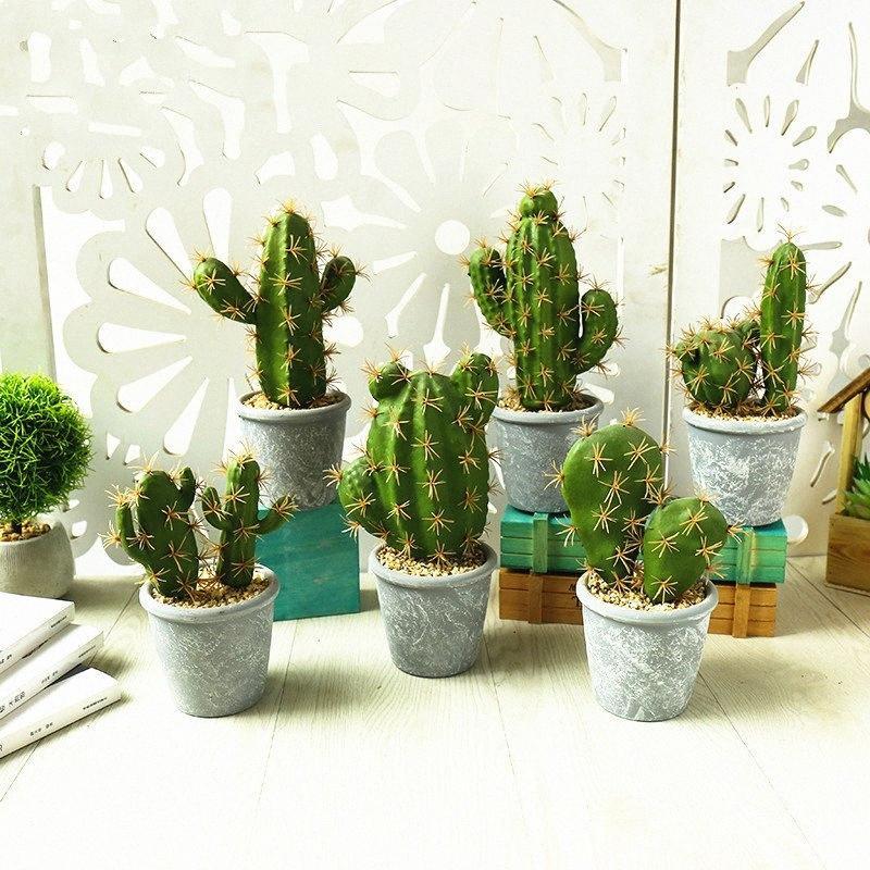1PC suni bitkiler kaktüs decoracion Mini ağaç ev bitkileri sulu meyveler ve kaktüs Masaüstü Bonsai BnlN # bonsai