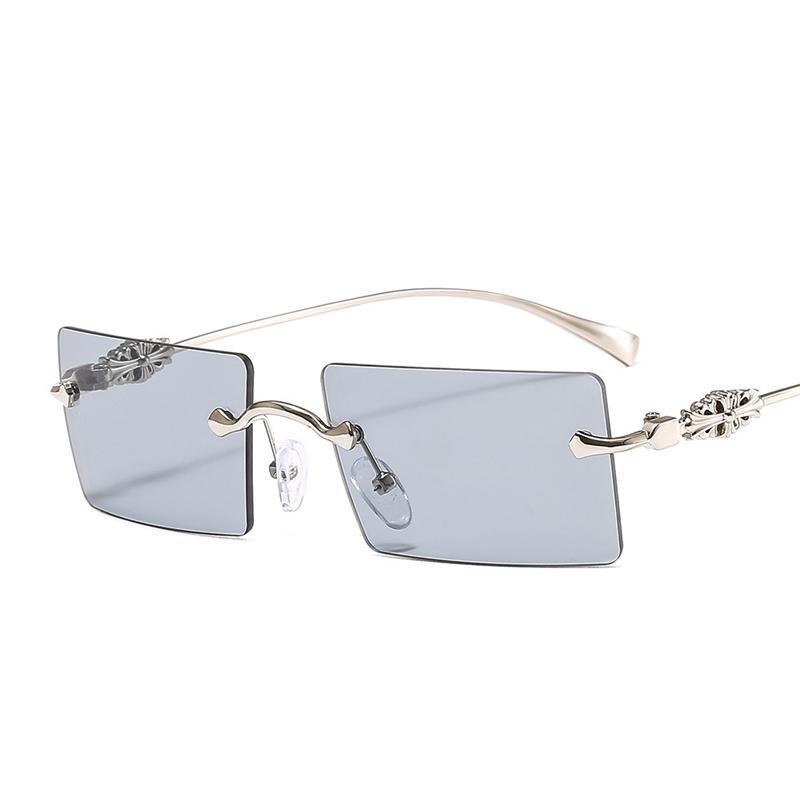 Versand neuer Designer Randlose Männer Farbe Frauen Freigläser UV-Schutz Sonnenbrille Trendy Mode Heizverkauf Brillen Und Quadratischer PNUtg