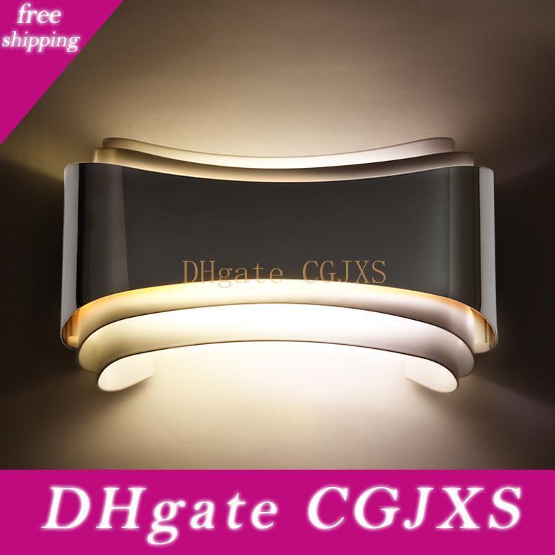 Luzes de parede Moda Modern LED para Quarto Estudo Sala de aço inoxidável Acrílico 6w Decoração Wall Lamp