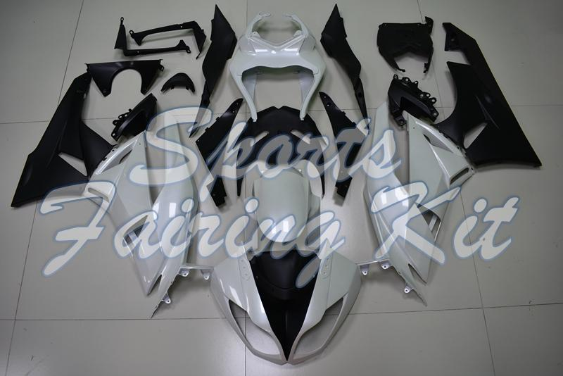 Carenatura kit per Kawasaki ZX6R 2009 - 2012 Bianco e nero carenature per Kawasaki ZX6R Kit 09 10 Full Body Ninja ZX6R 2011
