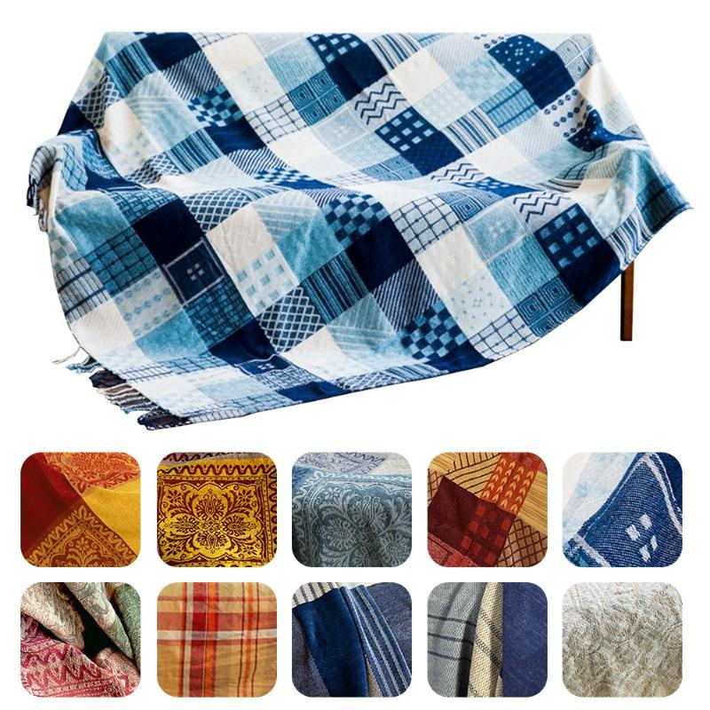 Manta suave tiro con borlas manta caliente acogedor para tiro de la cama del sofá Silla con borlas