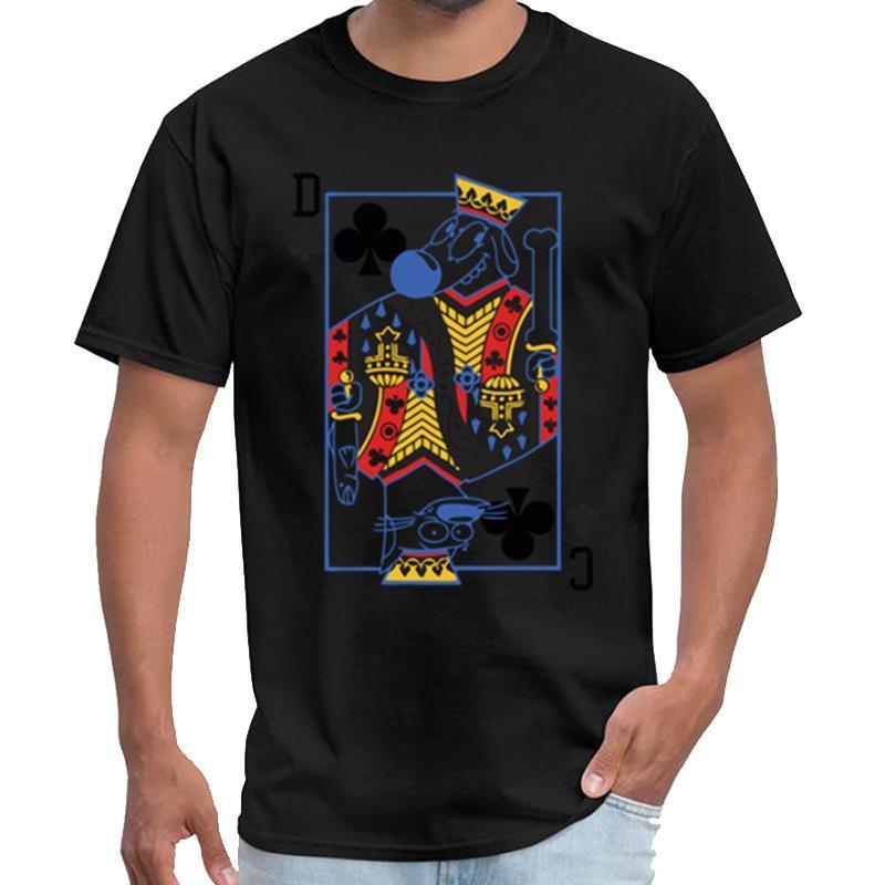 El naipe Catdog gráfico sobrenatural camiseta homme rey tigre camiseta XXXL 4XL 5XL lema