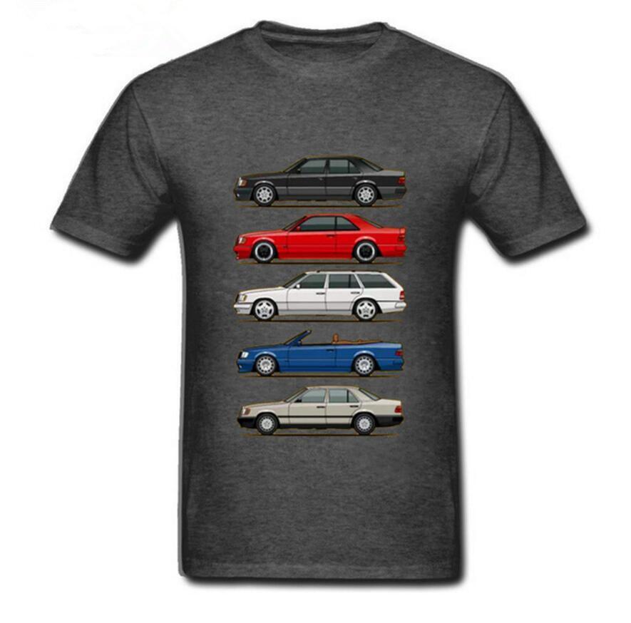 Новый 2020 Стек W124 E Class Мужчины футболки круглый ворот Топы с коротким рукавом O-образный вырез тенниски мужчин Молодёжных автомобили укладка футболки