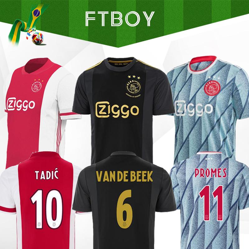 20 21 Ajax away soccer jersey PROMES 2020 2021 camiseta de fútbo VAN DE BEEK TADIC ZIYECH FOOTBALL SHIRT MEN KIDS SETS uniform 50TH NERES