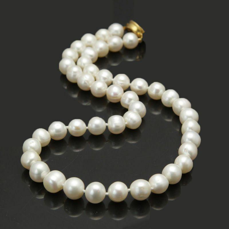 Beautiful Bijoux de mode en eau douce de 8-9mm blanc de 8-9mm