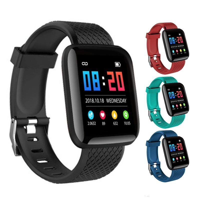 ID116 Plus Smart Watch Sport Outdoor Smart Band Blood Pressure Heart Rate Monitor Fitness Tracker Smart Wristband With Retail Package
