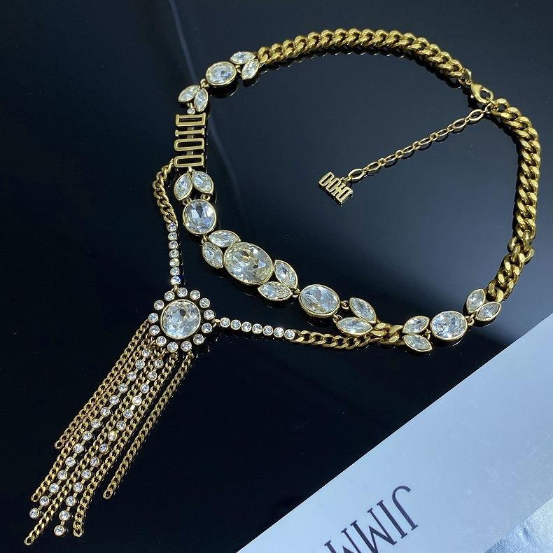D Семья / Dijia пшеничное ухо ожерелье женский стиль латунный кулон супер фея свет роскошный высококачественный Zircon ожерелье ювелирные изделия