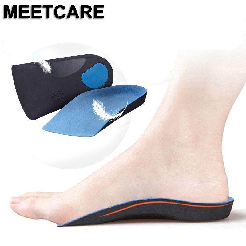 정형 외과 반 깔창 OX 다리는 신발 스포츠 메모리 쿠션 아치 지원 높이 증가 깔창 정형 안창 향상