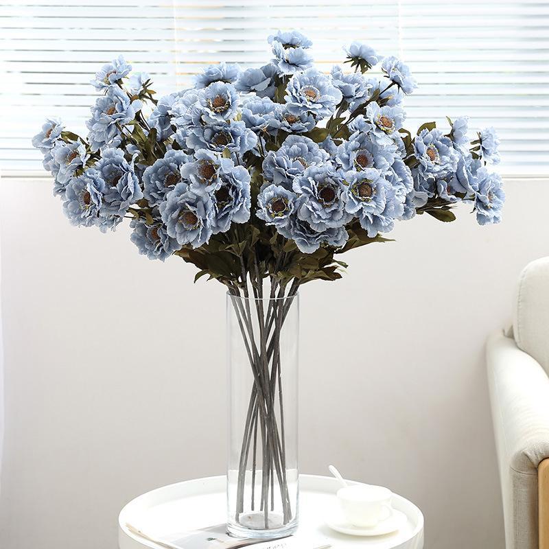 La flor artificial de la planta decoración de la boda de la flor de la simulación nueva Peony paño de seda DIY Garland decoración del hogar del regalo Crafts