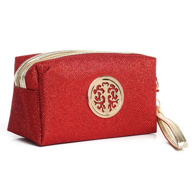 النساء مستحضرات التجميل حقيبة حقيبة ماكياج حالة المكياج المنظم أدوات الزينة التخزين PVC سحاب نيو السفر غسل الحقيبة الساخنة