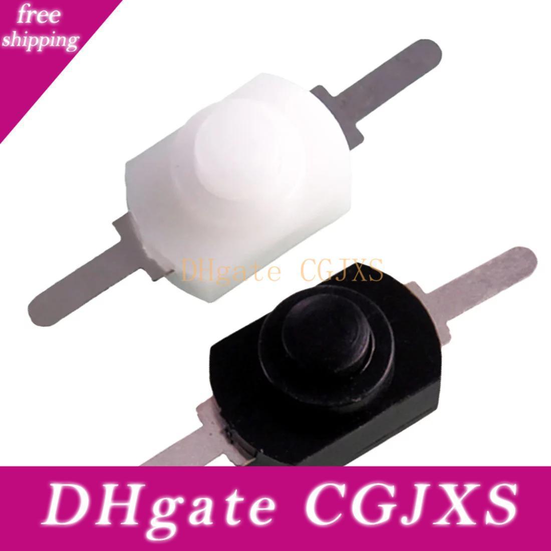 Vendita calda 1pc / 5pcs / 10pcs1a 30V CC 250V bianco / nero di bloccaggio On Off Mini Torcia Flashlight pulsante interruttore Jk0304