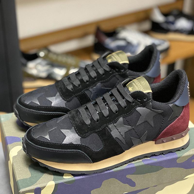 Sport Scarpe Uomo Designer Fashion Shoes Camouflage Studded Sneaker Shaspet lusso di tendenza di formato più Scarpe Uomo Scarpe De Lujo Para Hombre