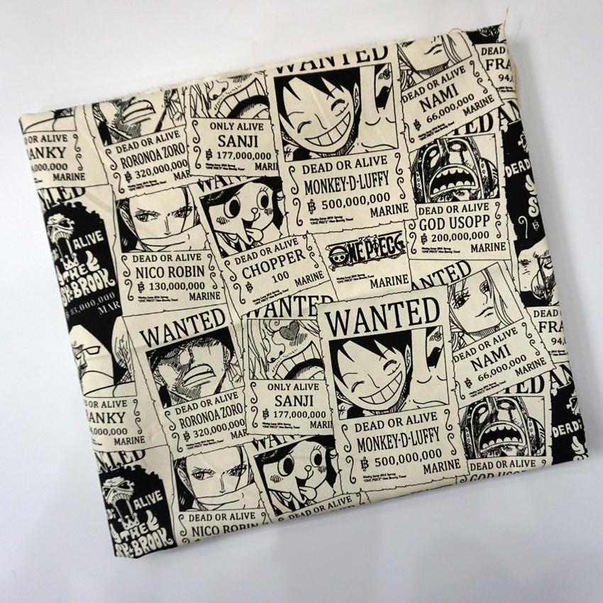 One Piece Dead Alive Chopper Luffy tessuto di tela di Patchwork Borsa in cotone cucito cuscino Diy Tovaglia Curtain divano 91 centimetri * 145 centimetri