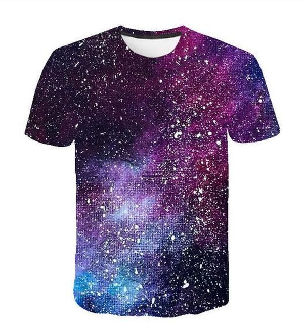 Accept Уважаемого клиента Дизайн аниме / Фото / Star / Singer Pattern / DIY футболка Женщина Мужчины Волшебные звезды Galaxy 3d печать сублимация Футболка MH017