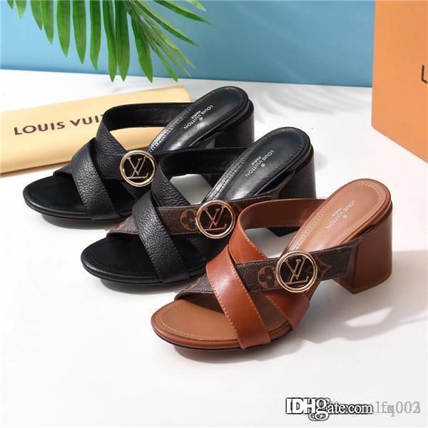Новые женщины дизайнера Luxury Сандал случайные тапочки воздуха звезды мода высокого класса кожа холст 7427086 2188 высокой пятки размер 7.5cm 35-40 с коробкой