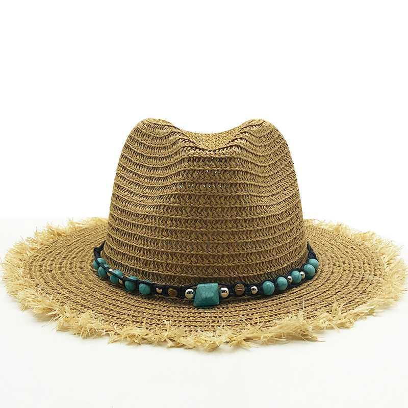Новое лето шлемы Sun Для женщин мужчину Панамы шляпы соломенной шляпы пляжа мода UV ВС Peotection путешествие колпачка