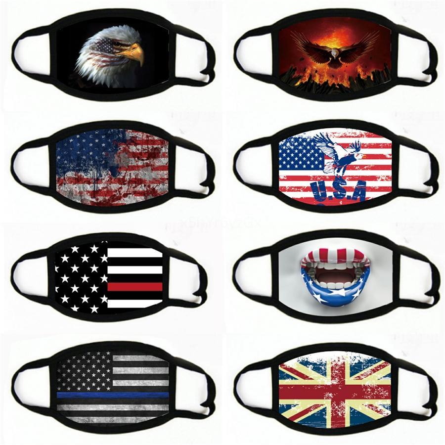 Le maschere per adulti e Face WashableMask Bretagna bandiera americana stampata antipolvere Anti-Haze Mask # 459
