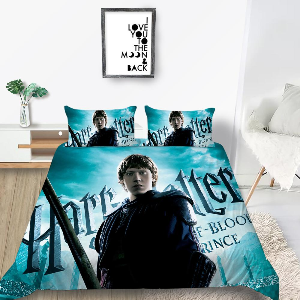 Harry Potter Pattern Bedding Set 3D Printing Design Duvet Cover Queen Twin Full Single Double Unique Bed Cover with Pillowcase