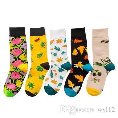 Frühling und Herbst 2019 Einzel Paar Socken Farbige in Zylinder Weibliche Socken und Herren Socken Fabrik Großhandel