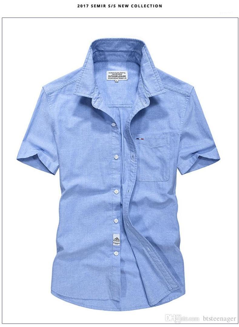 Decoraion homme fina peito de manga curta camisa Única sólida Oxford tops designer camisa casual mens bolso macho ptaid