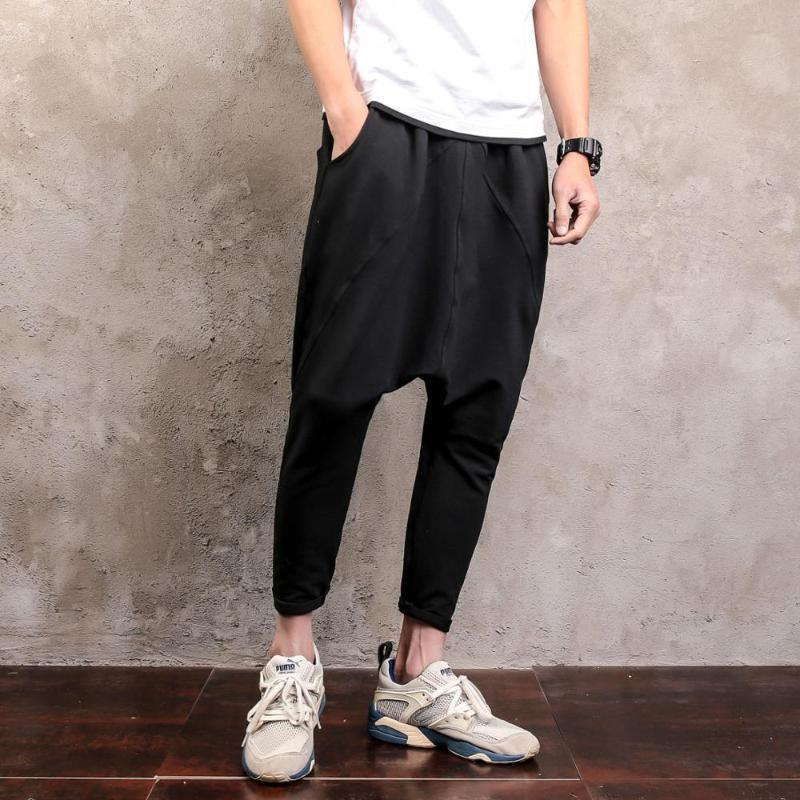 2020 Plus Size Solide M-5XL Street Fashion Hiphop Male Harem Pant Farbe lose Jogger Jogginghose Männer Kreuz Hosen 050904