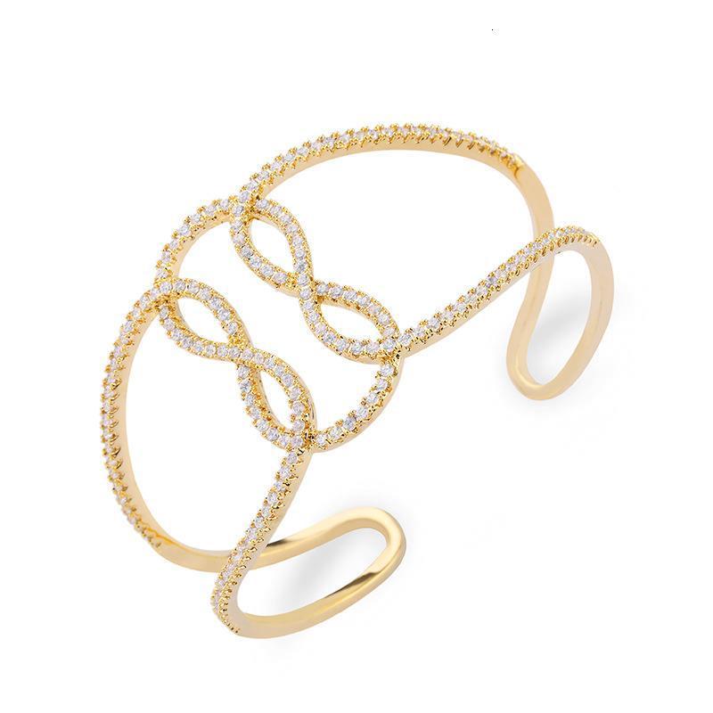 Personalizado moda liga pulseira de geometria com simples número 8 acessórios Dylam jóias