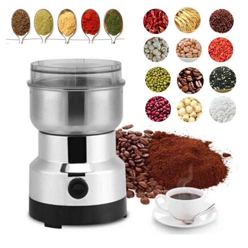 150 واط الفولاذ المقاوم للصدأ طاحونة القهوة الجوز الفول مطحنة الكهربائية مصغرة طاحونة المطبخ أداة