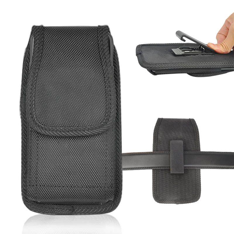 Telefono cellulare universale Pouch Bag Sport nylon fondina clip della cinghia della copertura della cassa del sacchetto di telefono per l'iPhone 12 11 Samsung Nota 20 S20