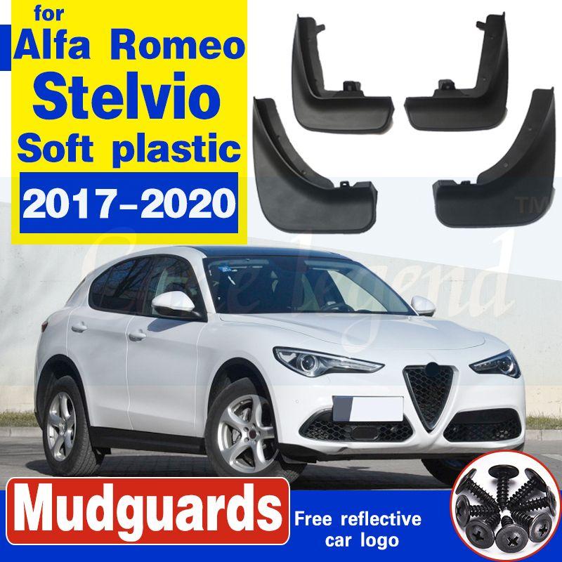 Auto-Schmutzfänger vorn hinten Kotflügel für Alfa Romeo Stelvio 2017-2020 Spritzschutz Schmutzfänger Autokotflügel Weicher Kunststoff-Zubehör
