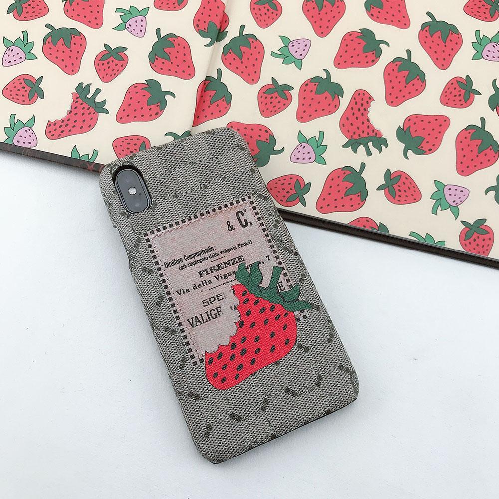 Caixa do telefone do IG Moda para IPhone 11Promax 11Pro X / XS XR XSMAX 6 / 6S 6p / 6SP 7/8 7P / 8p capa protetora com morango 9 Styles-3